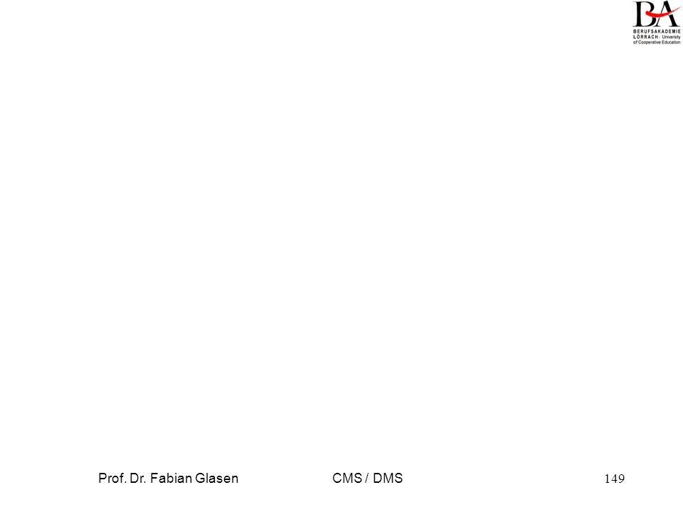 Prof.Dr. Fabian Glasen CMS / DMS150 BS-Dateisystem als DMS.