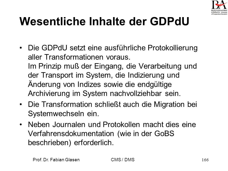 Prof. Dr. Fabian Glasen CMS / DMS167 Wissenspyramide Informationen Daten Wissen