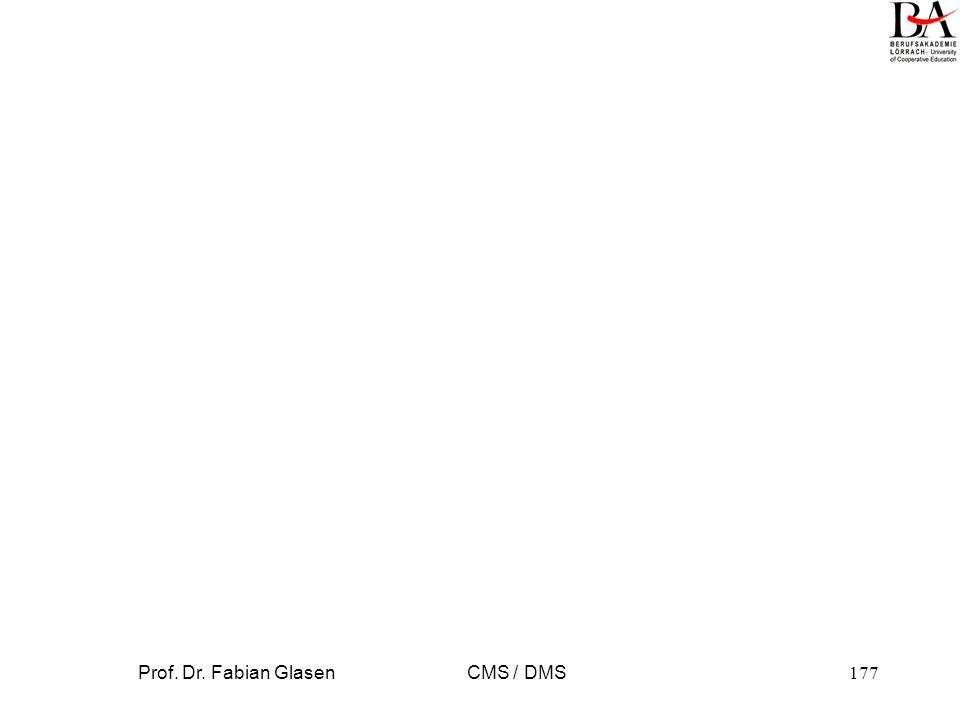 Prof. Dr. Fabian Glasen CMS / DMS177