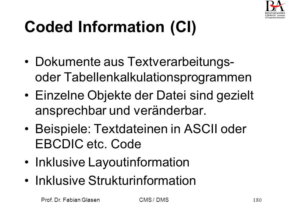 Prof. Dr. Fabian Glasen CMS / DMS181 Archiv-Serverstruktur
