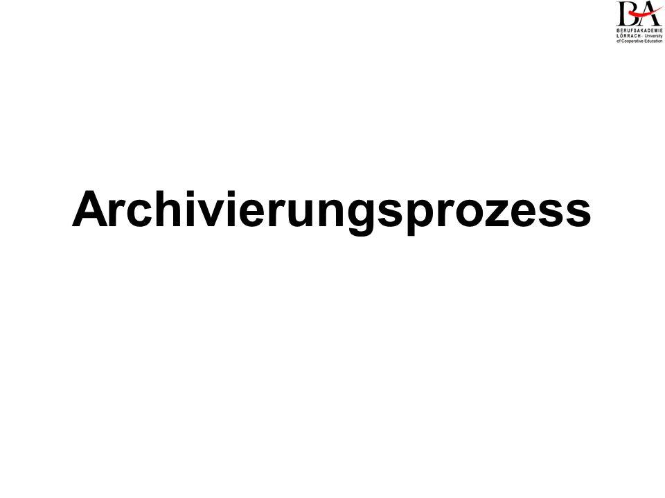 Archivierungsprozess
