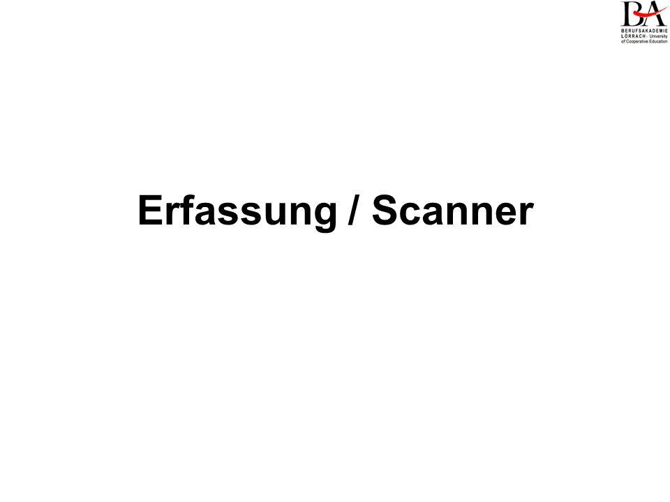 Erfassung / Scanner