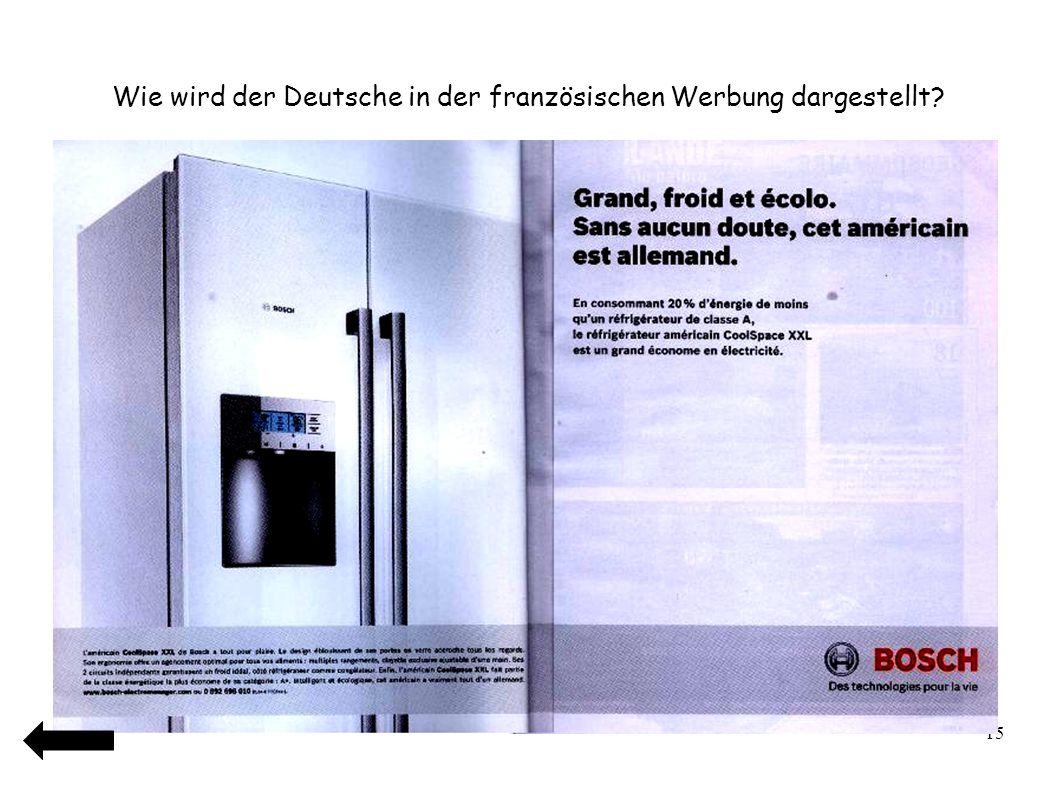 16 Wie wird der Franzose in der deutschen Werbung dargestellt?