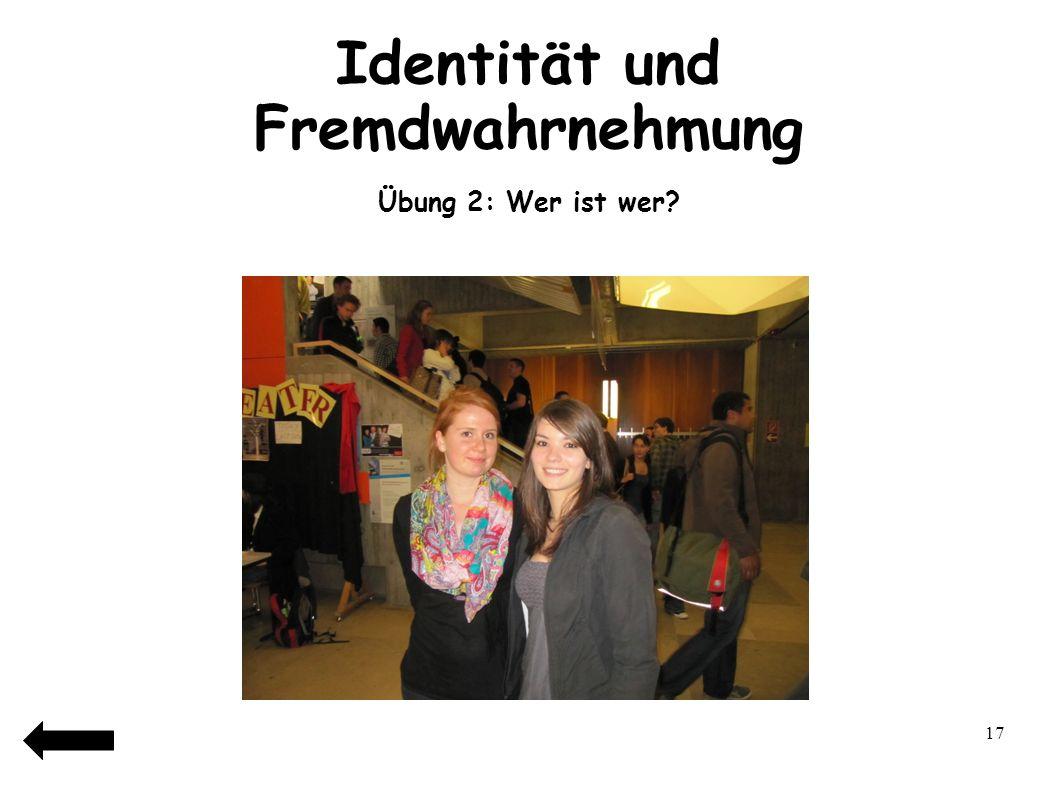 18 Identität und Fremdwahrnehmung Übung 2: Wer ist wer?