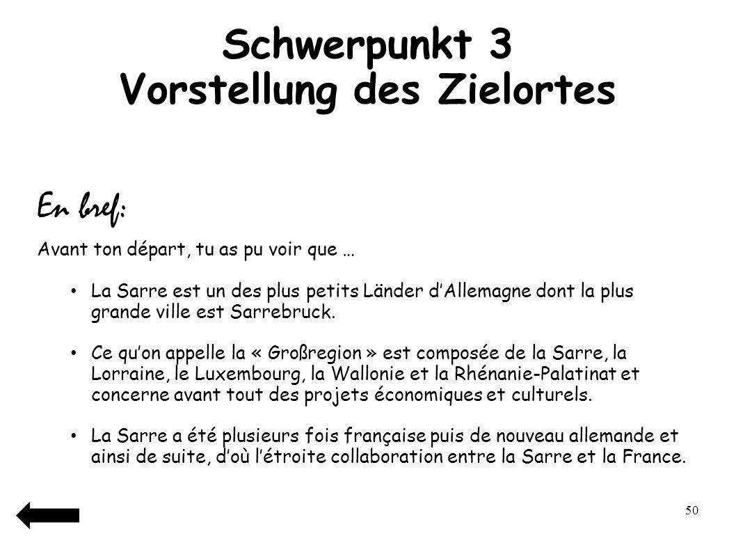 51 Petit avant-goût Jetzt wirst du dir ein paar Fotos ansehen können, um dir schon ein Bild von Saarbrücken zu machen…