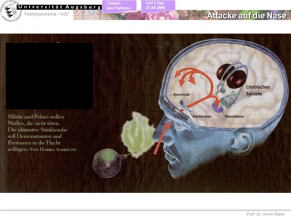 Festkörperchemie / WZU Chemie des Parfums Prof. Dr. Armin Reller Girls Day 27.04.2006 Attacke auf die Nase