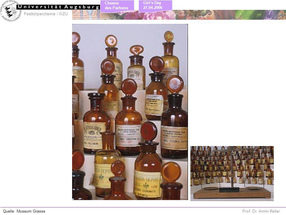 Festkörperchemie / WZU Chemie des Parfums Prof. Dr. Armin Reller Girls Day 27.04.2006 Quelle: Museum Grasse
