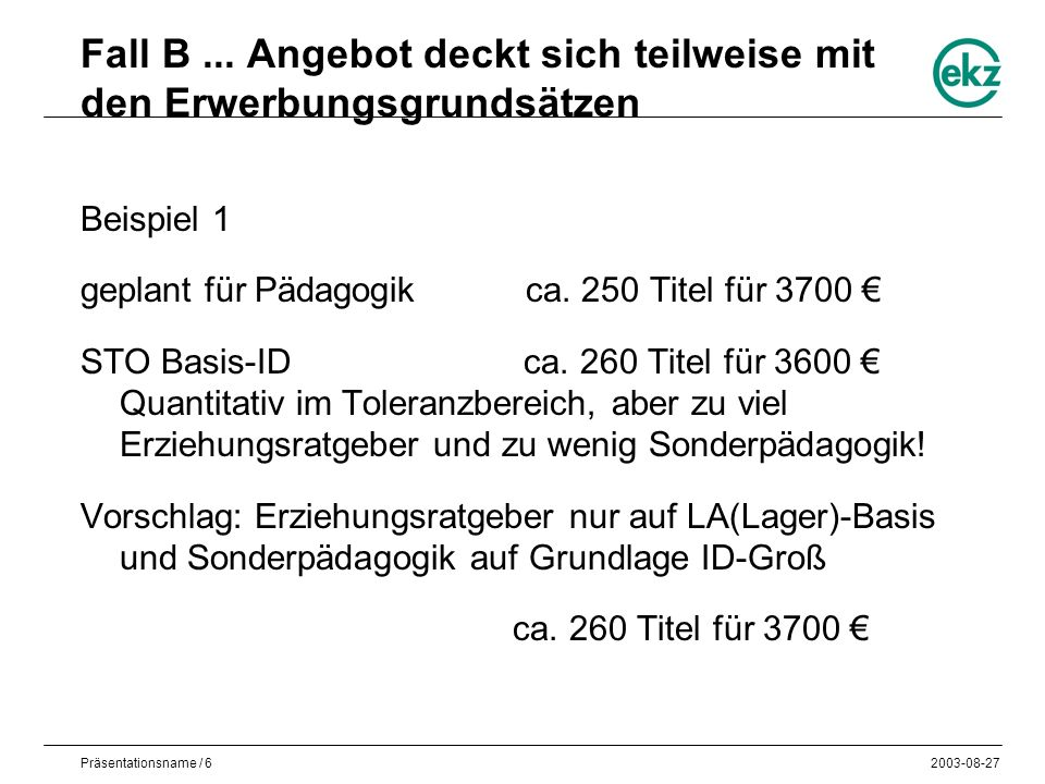 Präsentationsname / 62003-08-27 Fall B...