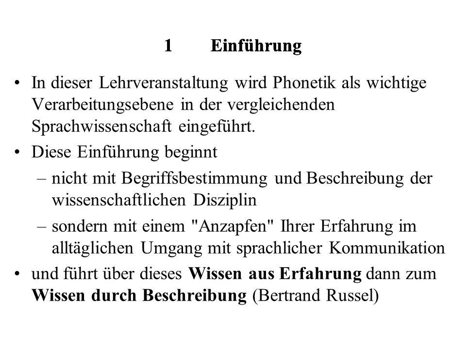 Lautsprachliche Kommunikation Phänomenologie und phonetische Untersuchungsmethoden Klaus J.