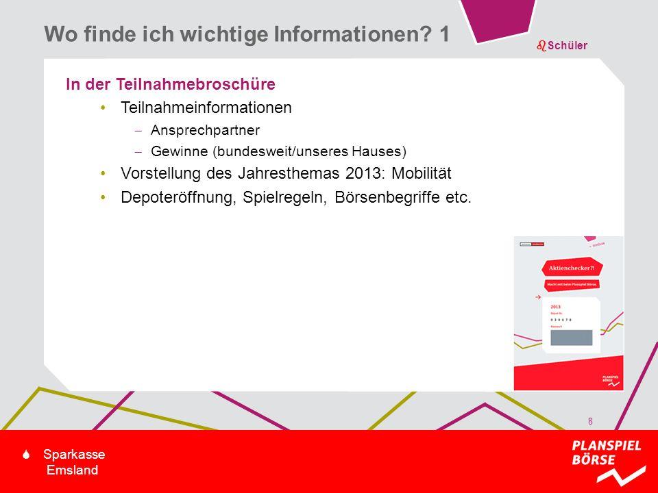 bSchüler S Sparkasse Emsland In der Teilnahmebroschüre Teilnahmeinformationen Ansprechpartner Gewinne (bundesweit/unseres Hauses) Vorstellung des Jahr