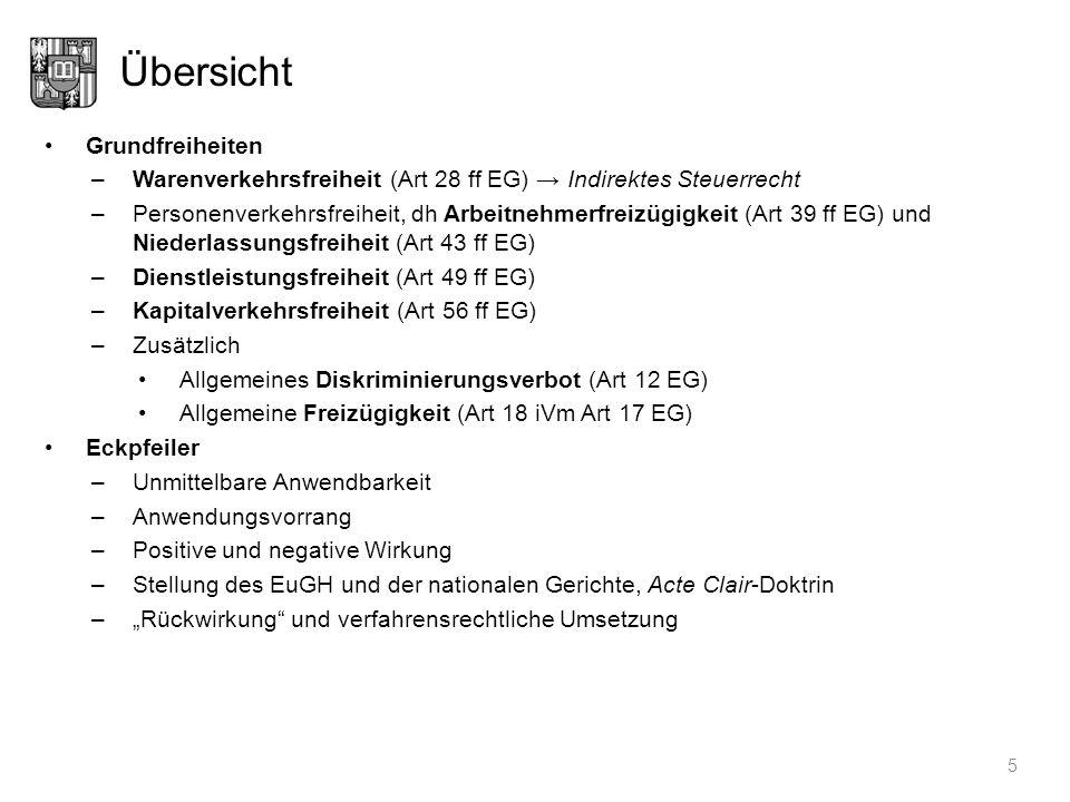 Bedeutung der Grundfreiheiten 6 Vorlagen und Vertragsverletzungsverfahren (Stand: 1. 1. 2009)