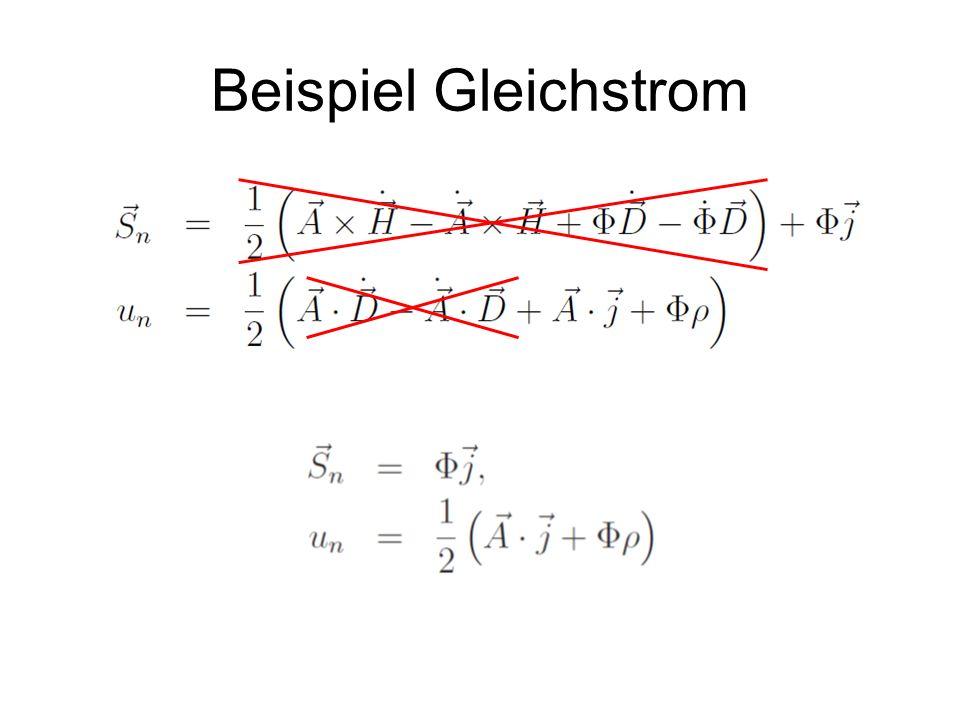 Beispiel Gleichstrom
