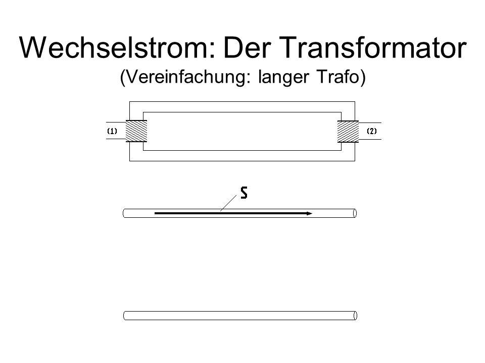 Wechselstrom: Der Transformator (Vereinfachung: langer Trafo)