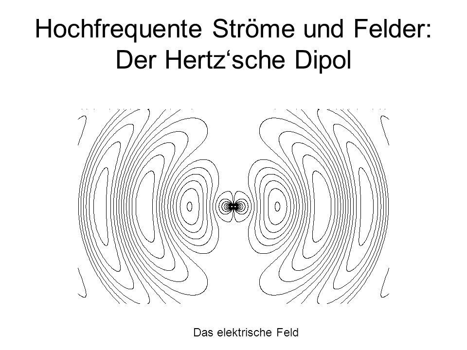 Hochfrequente Ströme und Felder: Der Hertzsche Dipol Das elektrische Feld