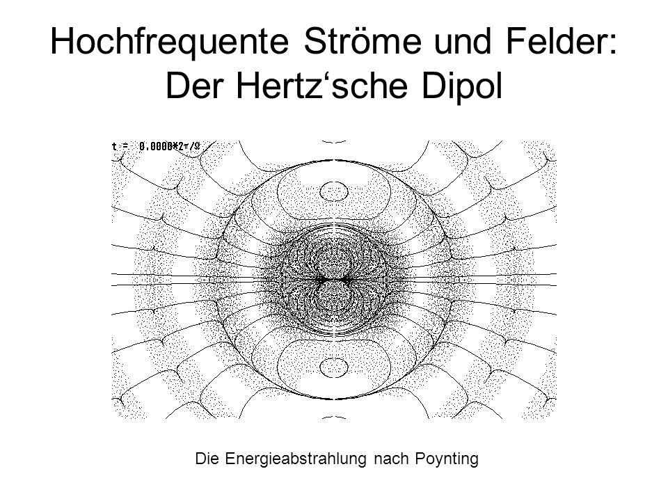 Hochfrequente Ströme und Felder: Der Hertzsche Dipol Die Energieabstrahlung nach Poynting