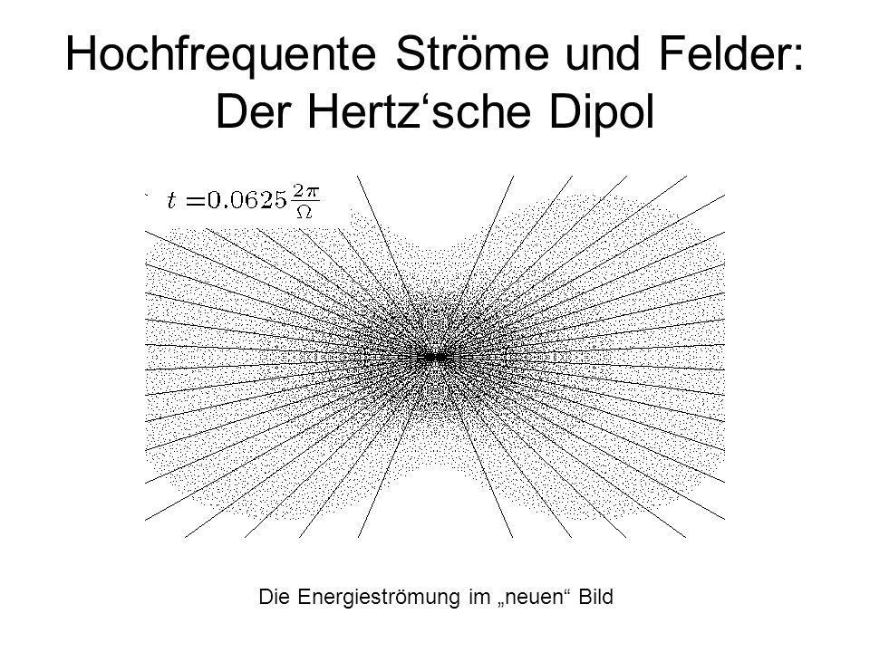Hochfrequente Ströme und Felder: Der Hertzsche Dipol Die Energieströmung im neuen Bild