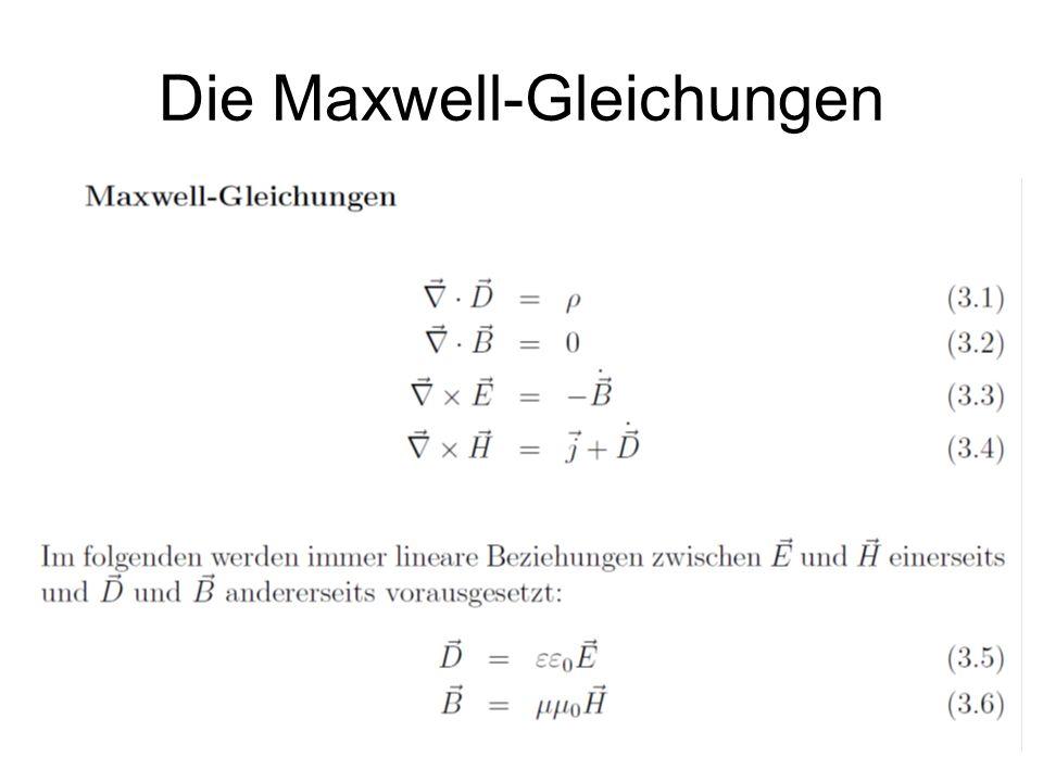 Die Maxwell-Gleichungen