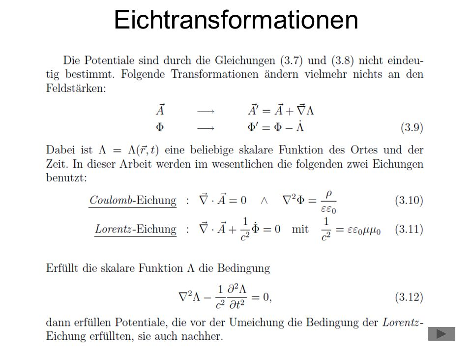 Eichtransformationen