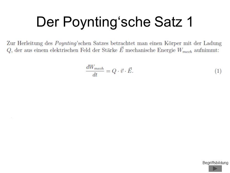 Der Poyntingsche Satz 1 Begriffsbildung