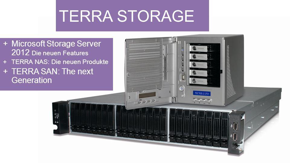 TERRA STORAGE Microsoft Storage Server 2012 Die neuen Features TERRA NAS: Die neuen Produkte TERRA SAN: The next Generation