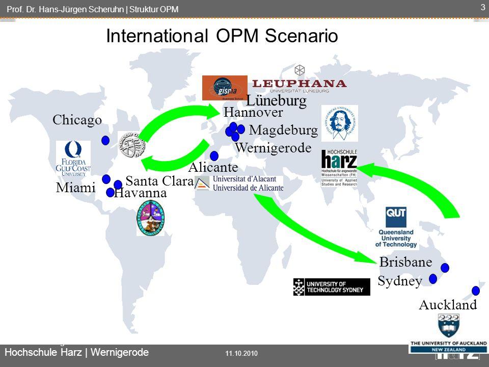 Prof. Dr. Hans-Jürgen Scheruhn | Struktur OPM Automatisierung und Informatik Hochschule Harz | Wernigerode 11.10.2010 3 Miami Havanna Wernigerode Sydn