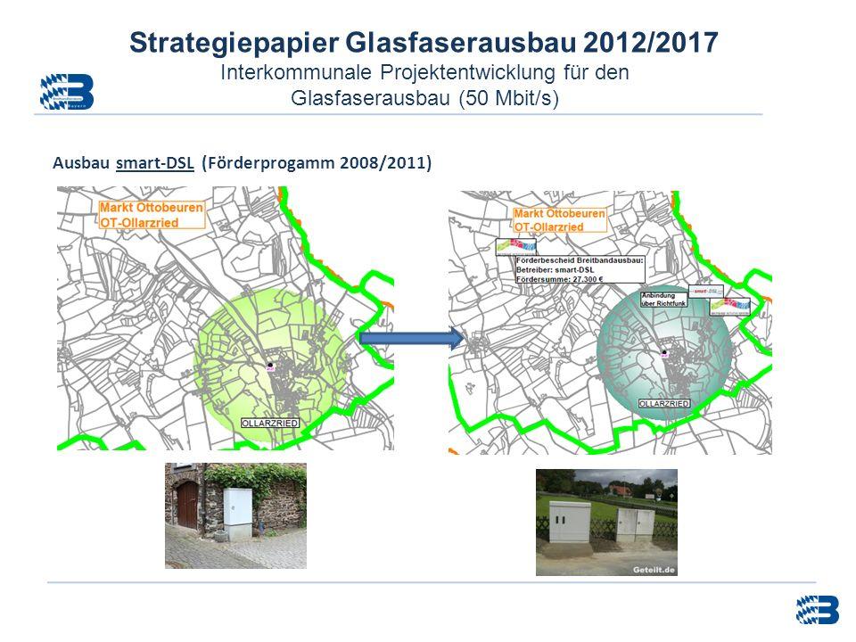 Strategiepapier Glasfaserausbau 2012/2017 Interkommunale Projektentwicklung für den Glasfaserausbau (50 Mbit/s) Ausbau smart-DSL (Förderprogamm 2008/2