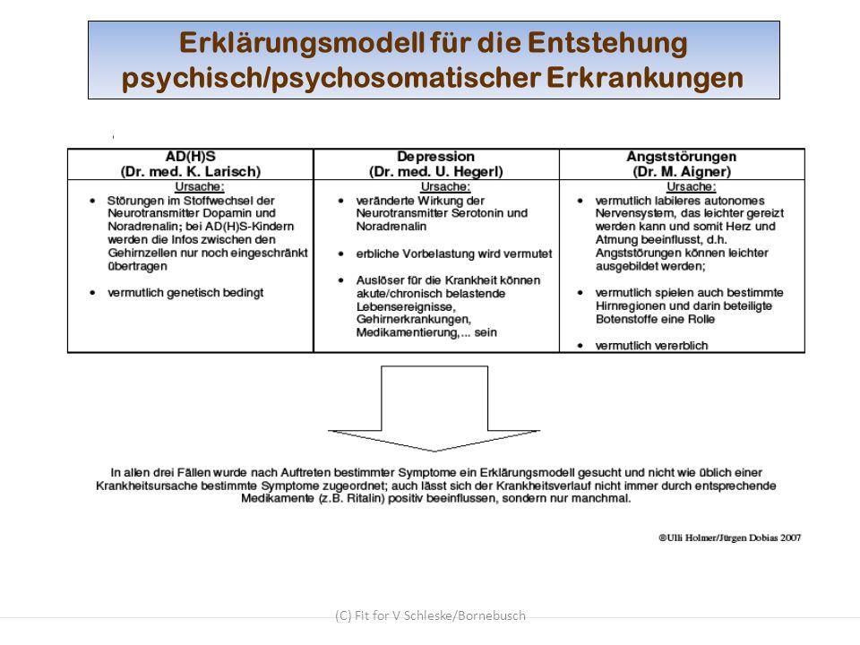 (C) Fit for V Schleske/Bornebusch Erklärungsmodell für die Entstehung psychisch/psychosomatischer Erkrankungen