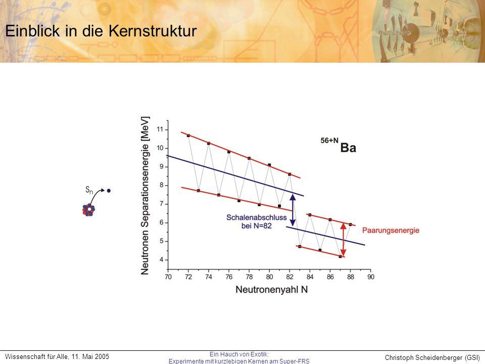 Christoph Scheidenberger (GSI) Wissenschaft für Alle, 11. Mai 2005 Ein Hauch von Exotik: Experimente mit kurzlebigen Kernen am Super-FRS Einblick in d