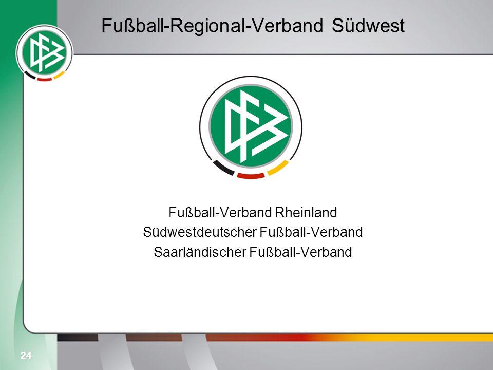 24 Fußball-Regional-Verband Südwest Fußball-Verband Rheinland Südwestdeutscher Fußball-Verband Saarländischer Fußball-Verband