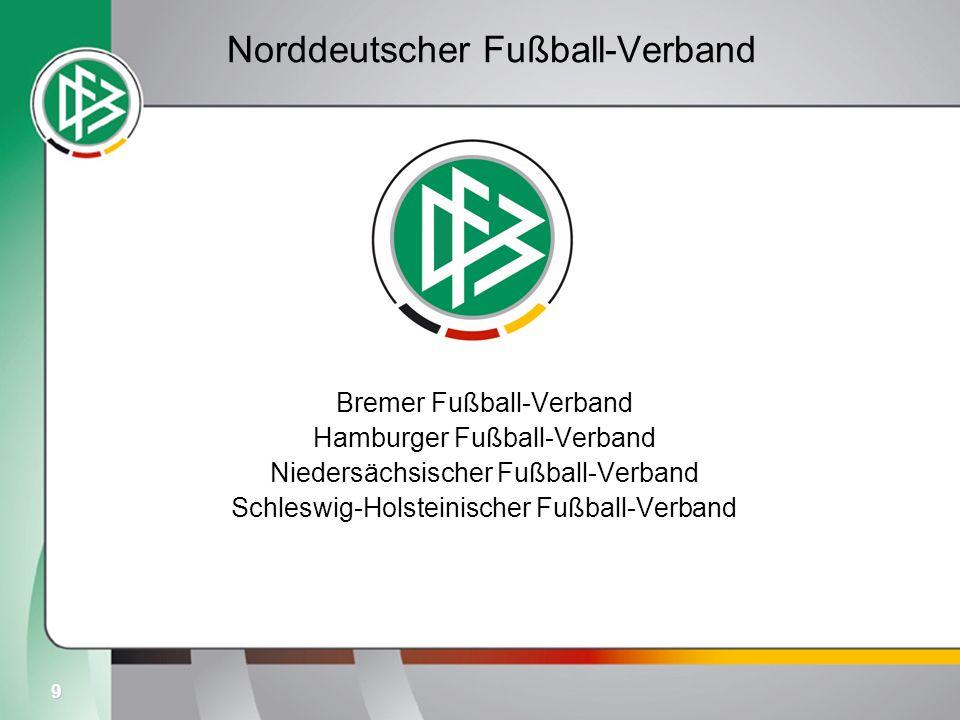 9 Norddeutscher Fußball-Verband Bremer Fußball-Verband Hamburger Fußball-Verband Niedersächsischer Fußball-Verband Schleswig-Holsteinischer Fußball-Ve