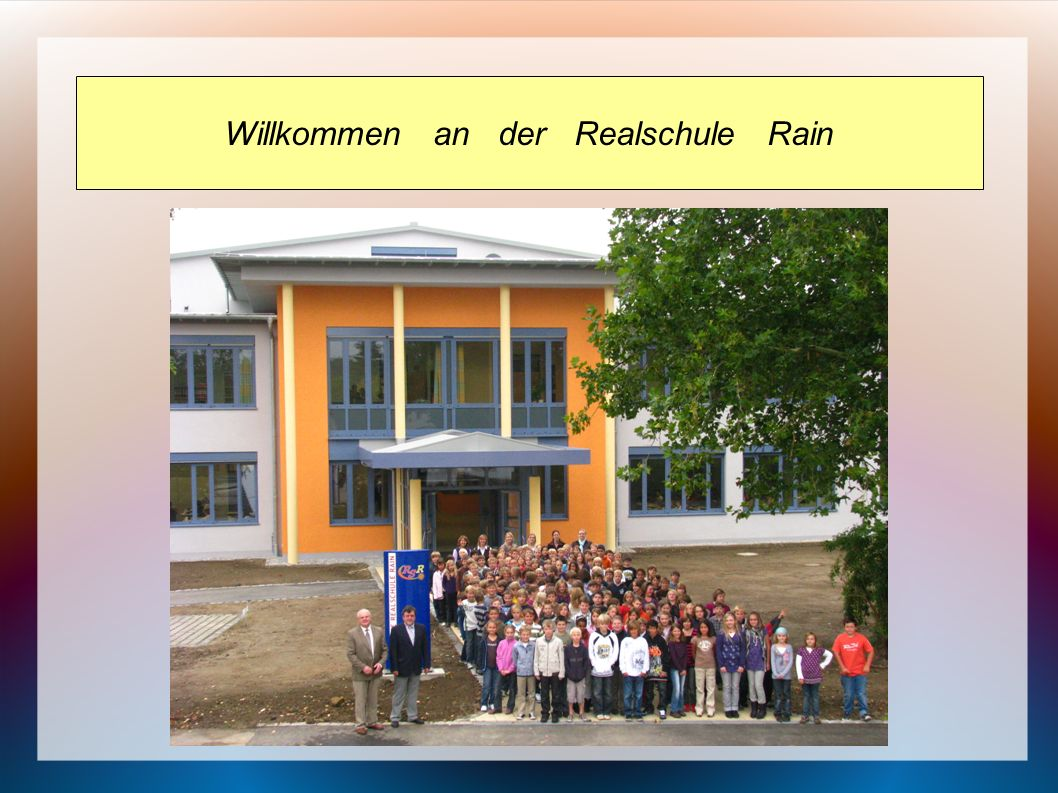 Willkommen an der Realschule Rain