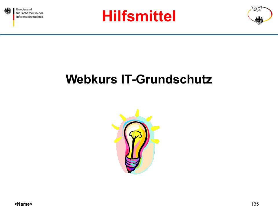 135 Webkurs IT-Grundschutz Hilfsmittel