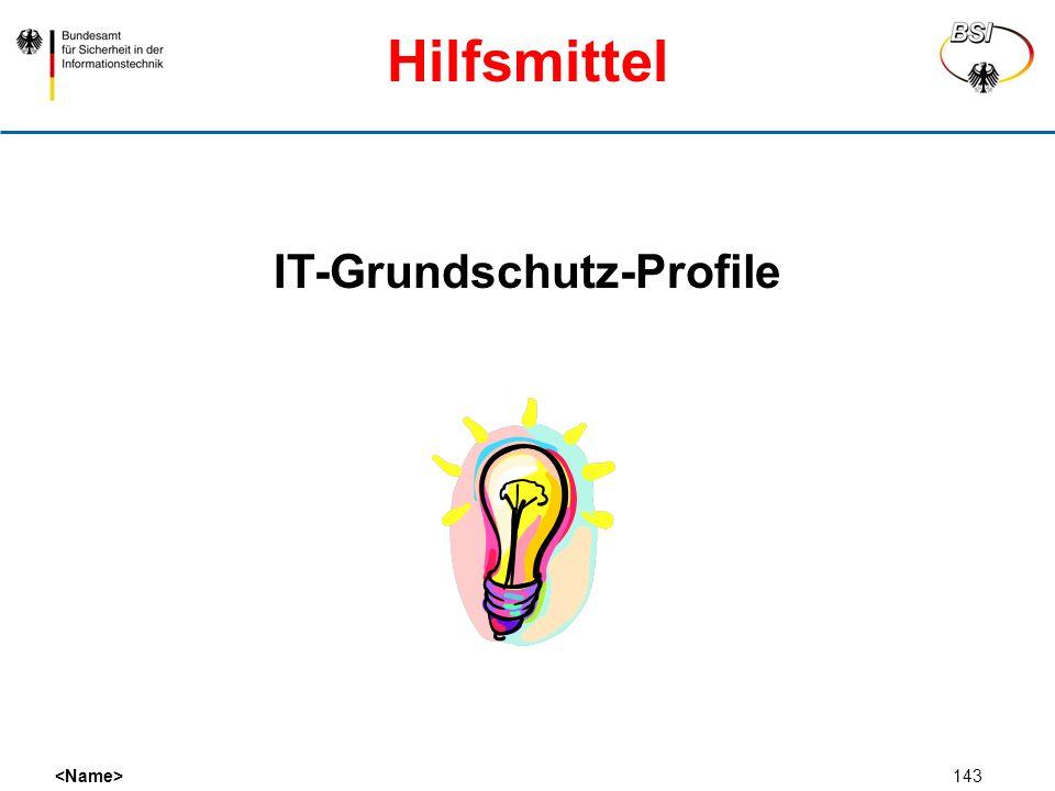 143 IT-Grundschutz-Profile Hilfsmittel