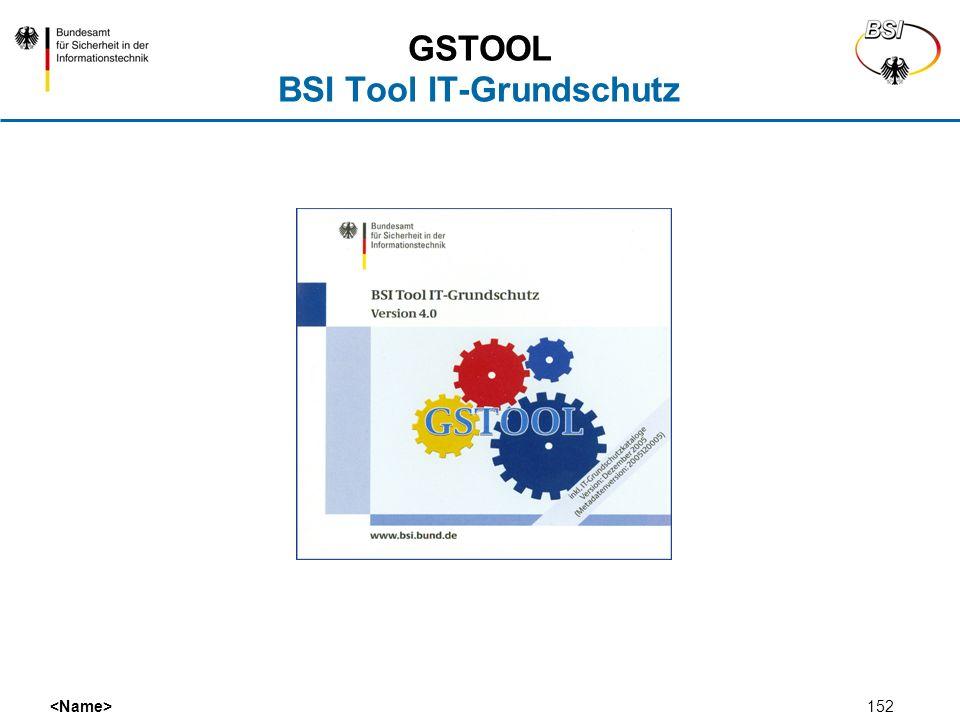 152 GSTOOL BSI Tool IT-Grundschutz