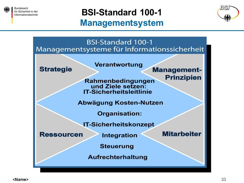 33 BSI-Standard 100-1 Managementsystem