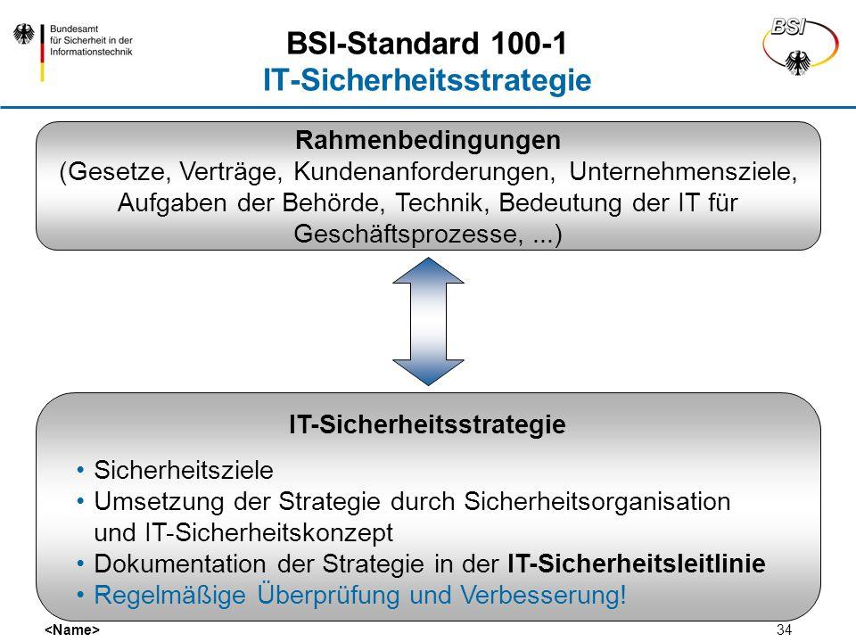34 Rahmenbedingungen (Gesetze, Verträge, Kundenanforderungen, Unternehmensziele, Aufgaben der Behörde, Technik, Bedeutung der IT für Geschäftsprozesse