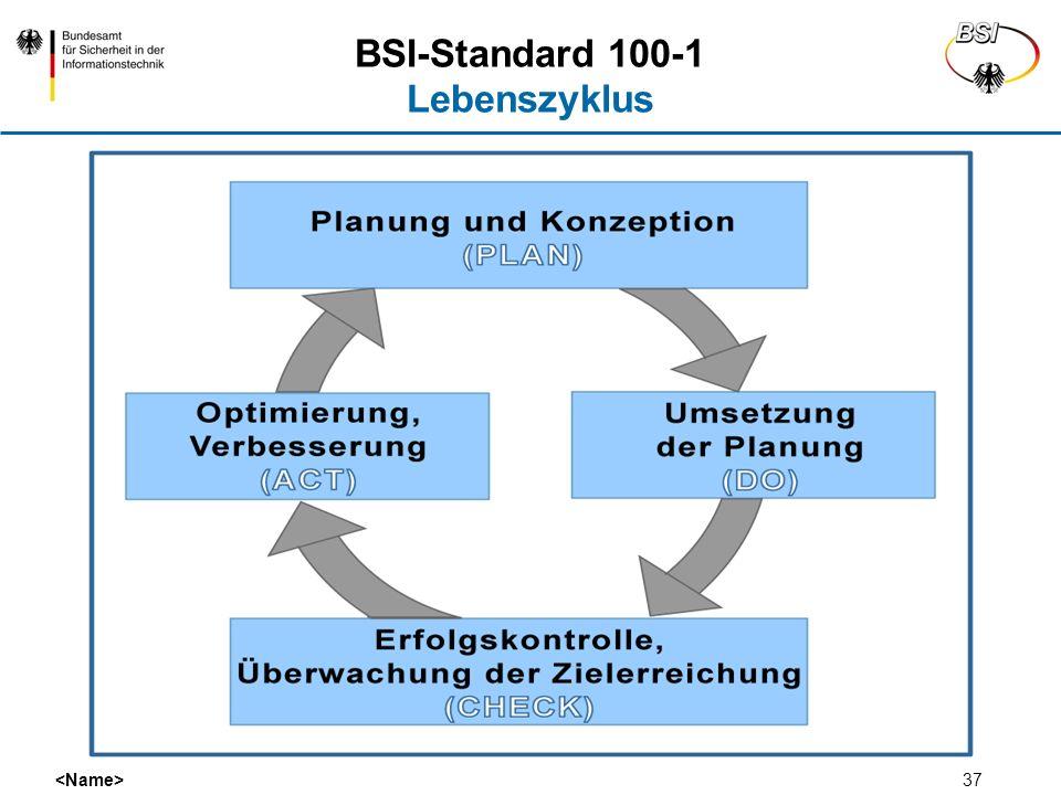 37 BSI-Standard 100-1 Lebenszyklus