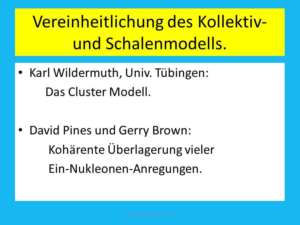 2)Schalenmodell von J. Hans D. Jensen und Maria Goeppert Mayer 1949; Nobelpreis 1963. Bewegung der Nukleonen auf festen Bahnen wie die Elektronen im A