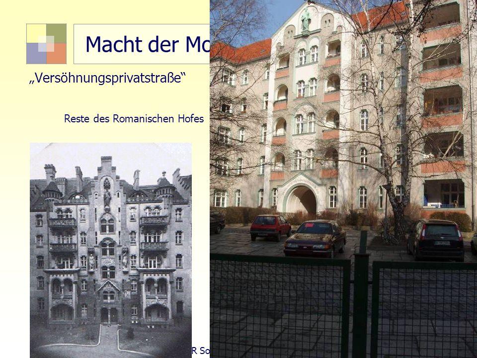 31 TU Berlin, ISR SoSe 2004 Bodennutzungsplanung II Macht der Moderne: Flächensanierung 1963-1980 Versöhnungsprivatstraße Reste des Romanischen Hofes