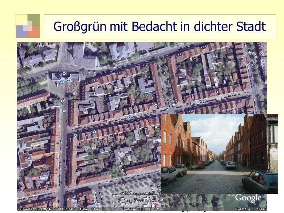 60 TU Berlin, ISR SoSe 2004 Bodennutzungsplanung II Großgrün mit Bedacht in dichter Stadt