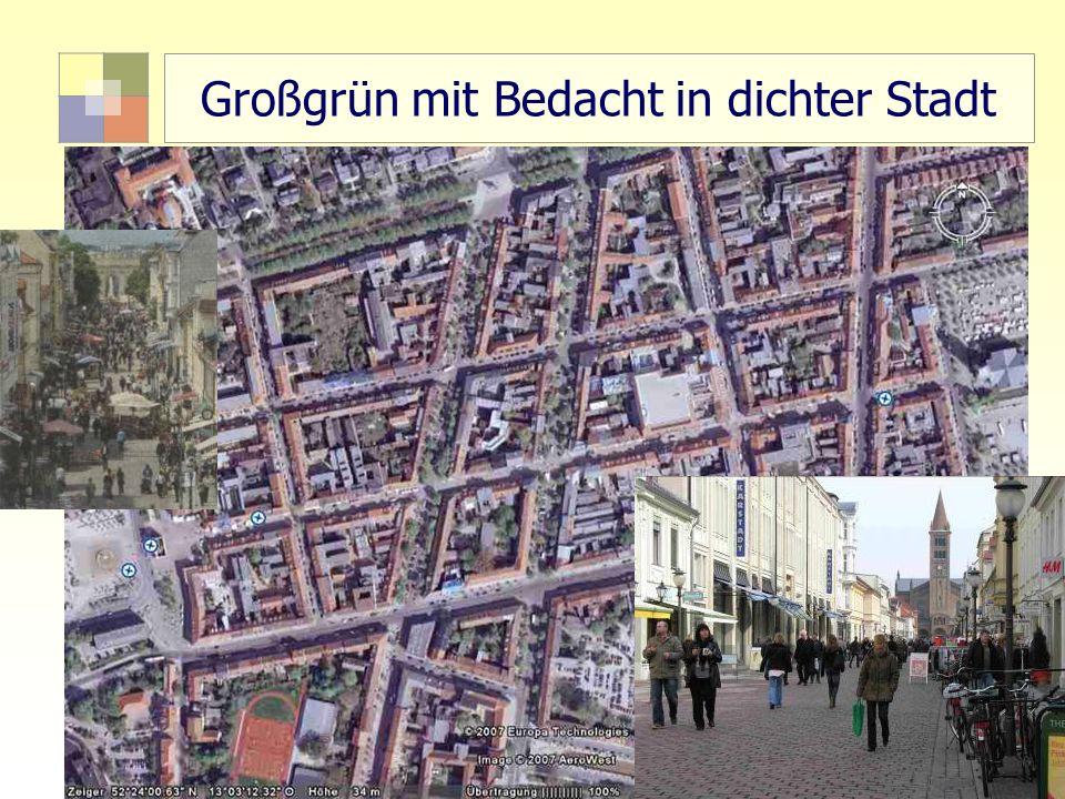 61 TU Berlin, ISR SoSe 2004 Bodennutzungsplanung II Großgrün mit Bedacht in dichter Stadt