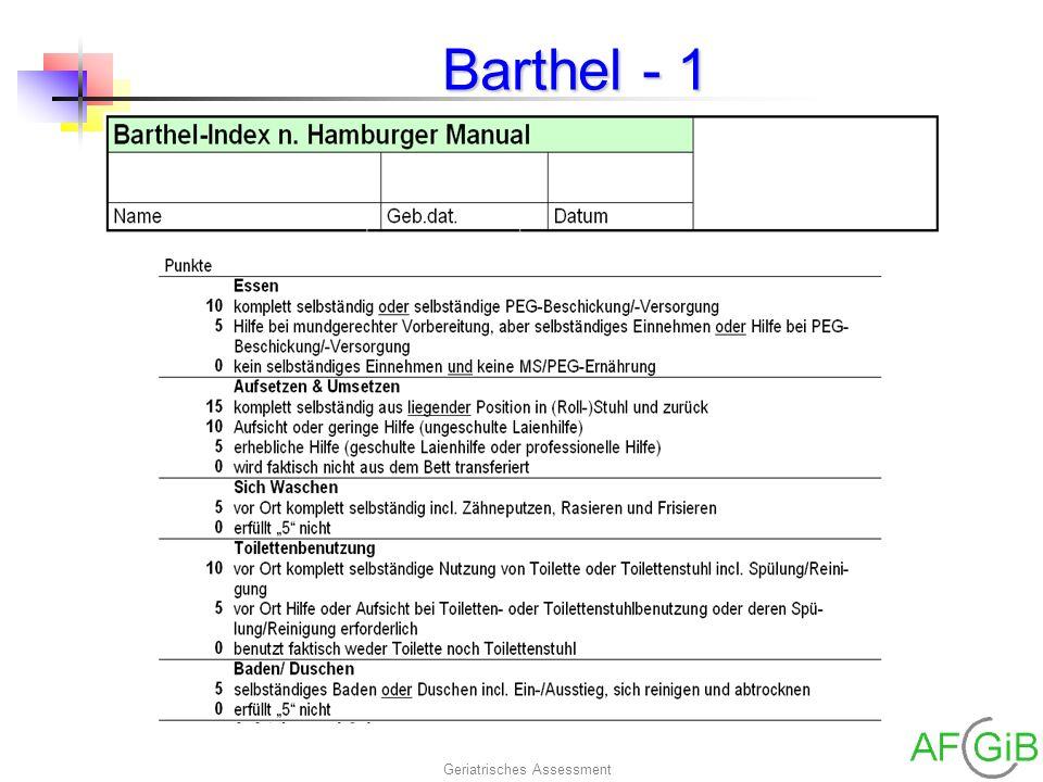 Geriatrisches Assessment Barthel - 1