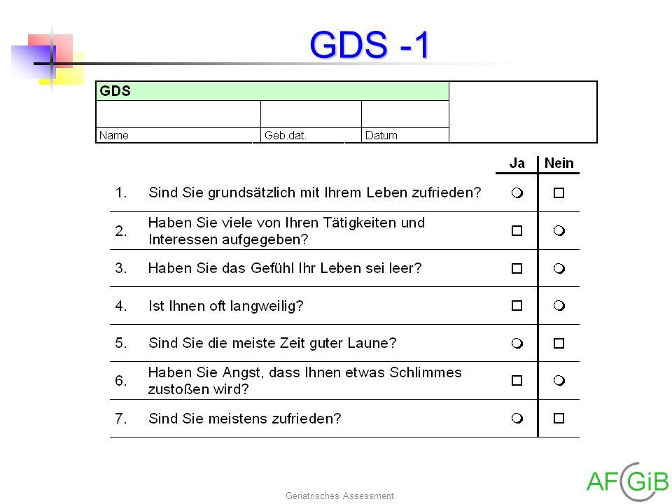 Geriatrisches Assessment GDS -1