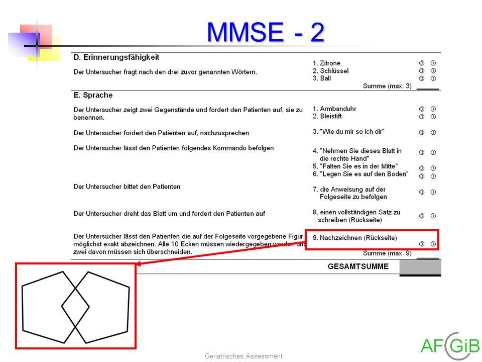 Geriatrisches Assessment MMSE - 2