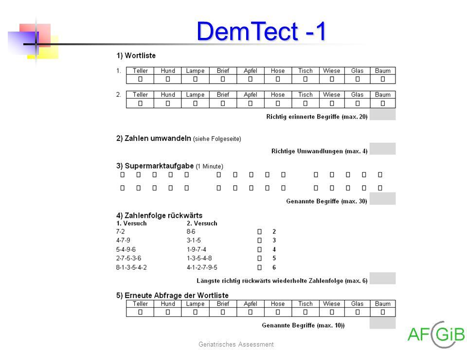 Geriatrisches Assessment DemTect -1