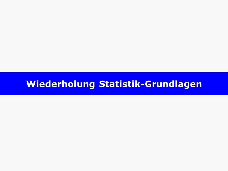 Wiederholung Statistik-Grundlagen