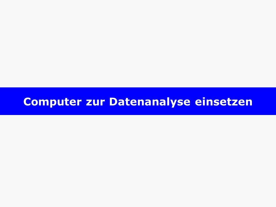 Computer zur Datenanalyse einsetzen