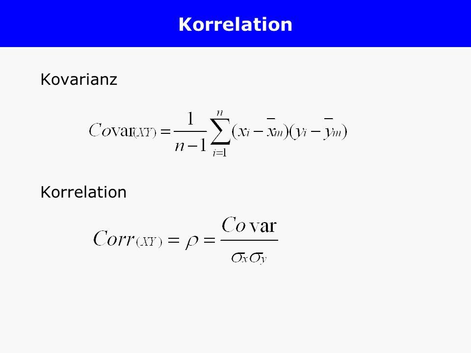 Korrelation Kovarianz Korrelation