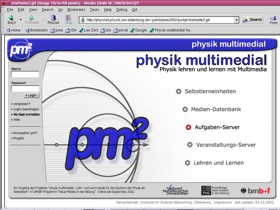 physik multimedial Lehr- und Lernmodule für das Studium der Physik als Nebenfach Titel der Seite Inhalt der Seite … physik multimedial: LiLi und die L