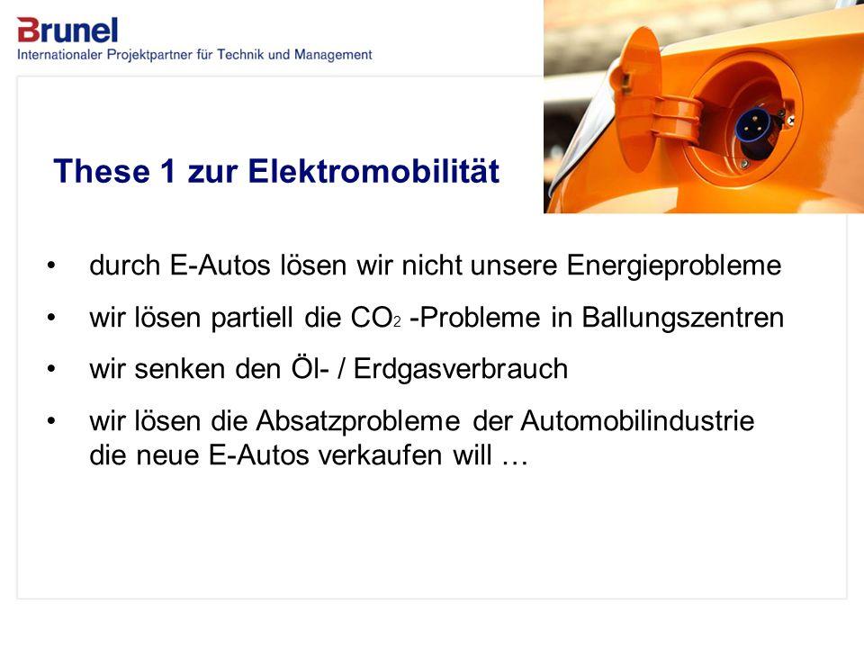 www.brunel.de 26. November 2013 3 Das Unternehmen These 1 zur Elektromobilität durch E-Autos lösen wir nicht unsere Energieprobleme wir lösen partiell